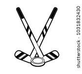 hockey stick winter sports... | Shutterstock .eps vector #1031832430