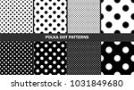 set of polka dots patterns ... | Shutterstock .eps vector #1031849680