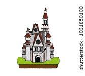 isolated castle design | Shutterstock .eps vector #1031850100