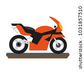 sport racing motorcycle | Shutterstock .eps vector #1031857510