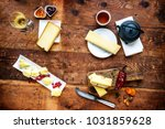 tasted swiss cheese and food... | Shutterstock . vector #1031859628