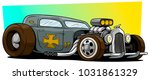 cartoon retro vintage gray hot... | Shutterstock .eps vector #1031861329