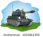 cartoon gray military army... | Shutterstock .eps vector #1031861350