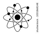 atom science symbol   Shutterstock .eps vector #1031868148