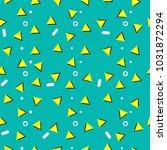 memphis pattern  seamless trend ...   Shutterstock .eps vector #1031872294