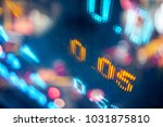 stock market board at night | Shutterstock . vector #1031875810