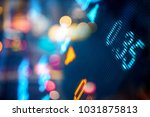 stock market board at night | Shutterstock . vector #1031875813