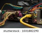 computer motherboard elements... | Shutterstock . vector #1031882290