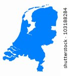 map of the netherlands | Shutterstock .eps vector #103188284