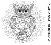 coloring book for adult and... | Shutterstock . vector #1031892943