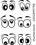 cartoon eyes icons set vector... | Shutterstock .eps vector #1031899798