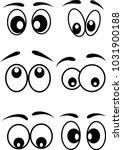Cartoon Eyes Icons Set Vector...
