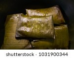 Small photo of Tamale Mexican food recipe with banana leaves steamed