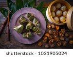 zongzi rice dumplings pork buns ... | Shutterstock . vector #1031905024