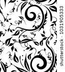 seamless design curls leaves... | Shutterstock .eps vector #1031905333
