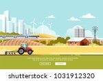agriculture and farming.... | Shutterstock .eps vector #1031912320