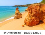 view of beautiful beach with... | Shutterstock . vector #1031912878