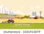 agriculture and farming.... | Shutterstock .eps vector #1031913079