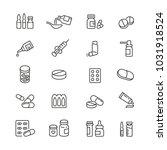 medicine drugs pills  thin... | Shutterstock .eps vector #1031918524