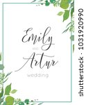 botanical  watercolor style...   Shutterstock .eps vector #1031920990