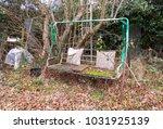 abandoned neglected garden...   Shutterstock . vector #1031925139