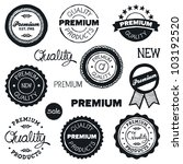 set of hand drawn vintage... | Shutterstock . vector #103192520