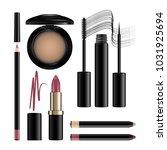 makeup cosmetics set isolated... | Shutterstock .eps vector #1031925694