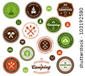 set of retro camping and... | Shutterstock . vector #103192580