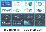 development charts slide...   Shutterstock .eps vector #1031928229