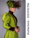 victorian woman half body view... | Shutterstock . vector #1031931706