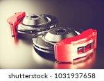 disk brake. brakes for car. 3d... | Shutterstock . vector #1031937658