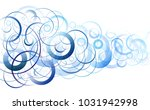 blue circles abstract background | Shutterstock .eps vector #1031942998