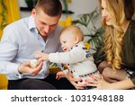 a close up of a father who... | Shutterstock . vector #1031948188