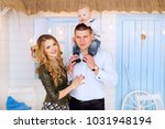 a close up of a happy family on ... | Shutterstock . vector #1031948194