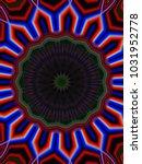 psychedelic neon glitch mandala ... | Shutterstock . vector #1031952778