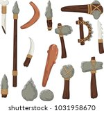 set tools of prehistoric man | Shutterstock .eps vector #1031958670