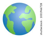 earth planet icon | Shutterstock .eps vector #1031966728