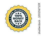 100  money back guarantee... | Shutterstock .eps vector #1031967139