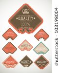 vintage label style with nine...   Shutterstock .eps vector #103198004