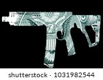 guns and money. representing... | Shutterstock . vector #1031982544