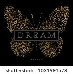 butterfly graphic for t shirt | Shutterstock . vector #1031984578