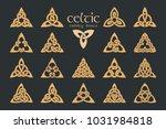 vector celtic trinity knot. 18... | Shutterstock .eps vector #1031984818