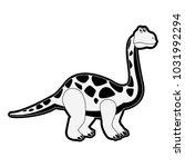 big dinosaur cartoon | Shutterstock .eps vector #1031992294