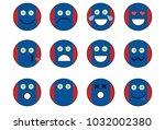 set of mongolia emoji. | Shutterstock . vector #1032002380