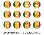 set of mali emoji. | Shutterstock . vector #1032002410