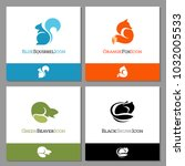 set of forest animal icons to... | Shutterstock .eps vector #1032005533