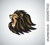 mad lion head roaring mascot ...   Shutterstock .eps vector #1032007510