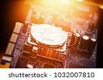 litecoin cryptocurrency token...   Shutterstock . vector #1032007810