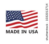 vector made in usa sign