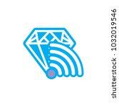 wifi diamond logo icon design | Shutterstock .eps vector #1032019546